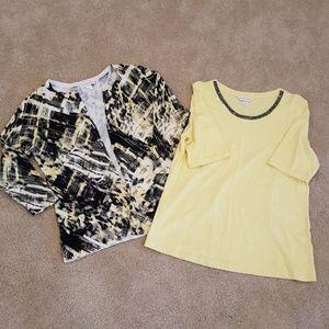 Women's cartigan shirt set